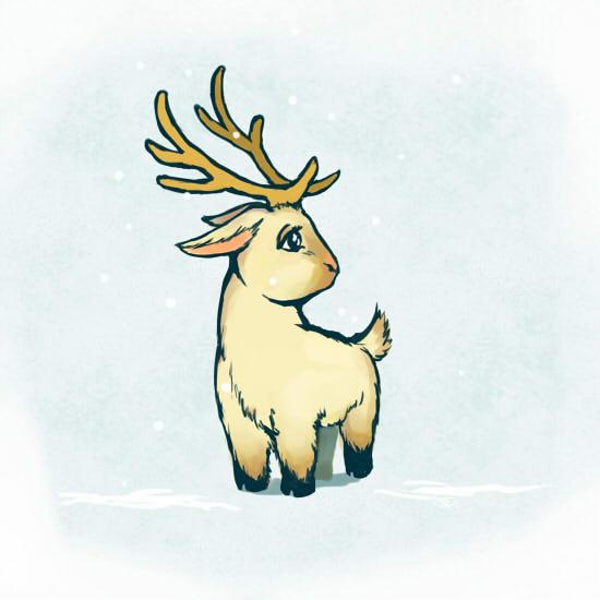 Drawn reindeer chibi By reindeer chibi reindeer SatSangeet