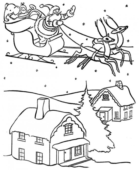 Drawn reindeer christmas coloring page Santa Celebrations Pages / Pages