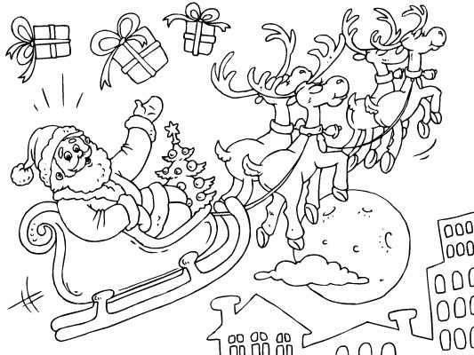 Drawn reindeer christmas coloring page His coloring Christmas Coloring Christmas