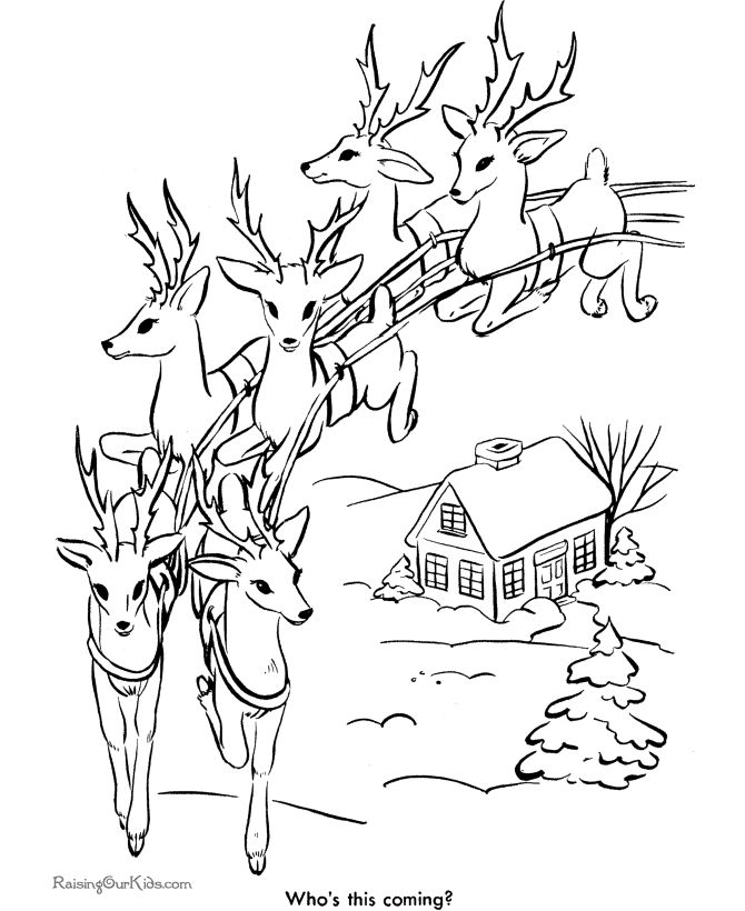 Drawn reindeer christmas coloring page Pin pages on Pinterest coloring