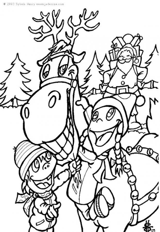 Drawn reindeer christmas coloring page Thanks kids pages Hellokids with