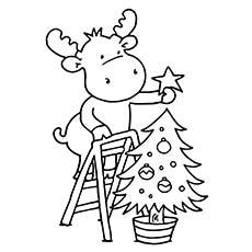 Drawn reindeer christmas tree Tree Reindeer Christmas Tree Free