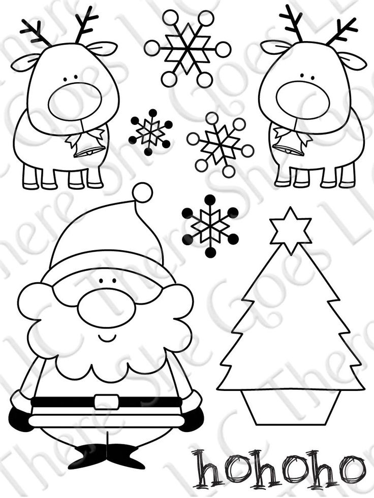 Drawn reindeer christmas tree About you and Santa snowflakes