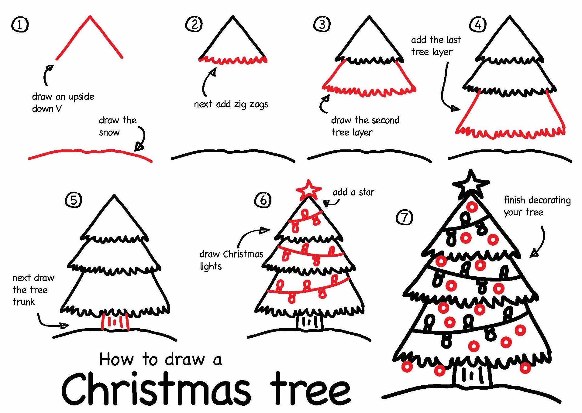 Drawn reindeer christmas tree To A Kids  >