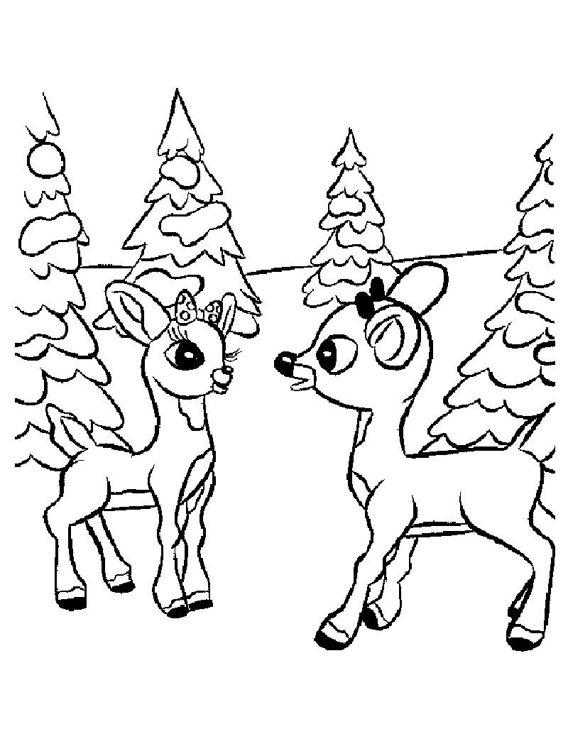 Drawn reindeer clarice Red reindeer nosed coloring the
