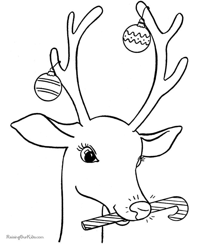 Drawn reindeer color On drawing Coloring Reindeer Best