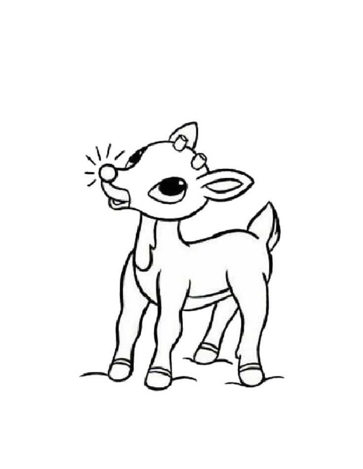 Drawn reindeer color Reindeer Best ideas red Pinterest
