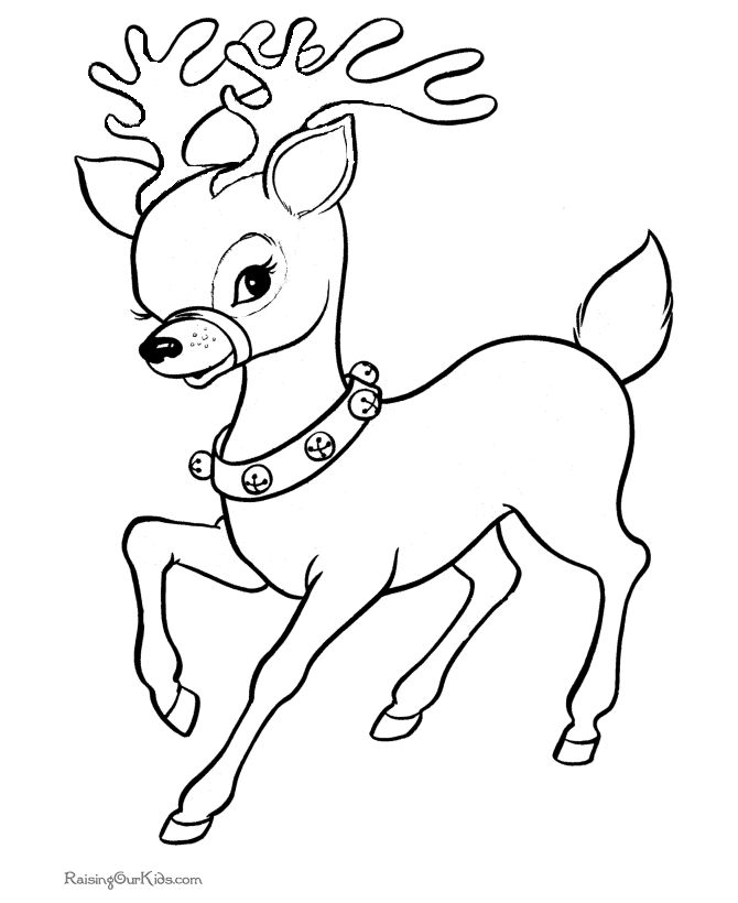 Drawn reindeer coloring book Pages best pictures Coloring Pinterest