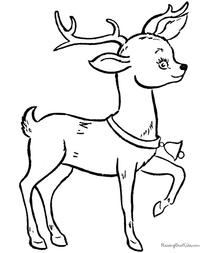 Drawn reindeer coloring book Patterns book Coloring 98 on