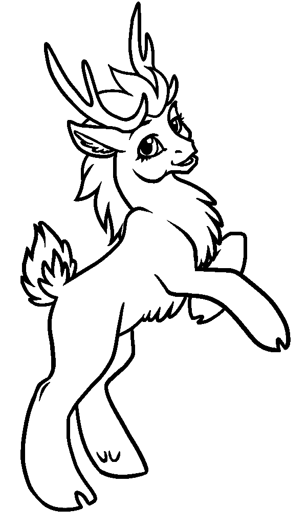 Drawn reindeer colouring page Pages Free Pages Reindeer For
