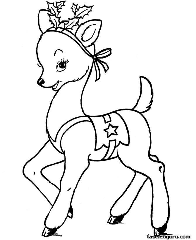 Drawn reindeer colouring page Pages Pages Reindeer Reindeer Printable