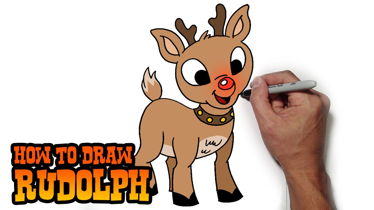 Drawn reindeer cute Draw Red Rudolph to Lesson