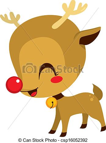 Drawn reindeer cute Royalty 105 Free Art Vector