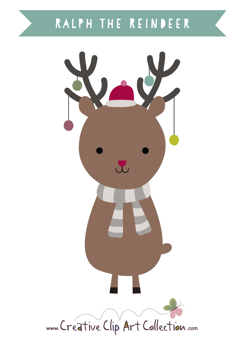 Drawn reindeer cute holiday Christmas draw a to Pictures