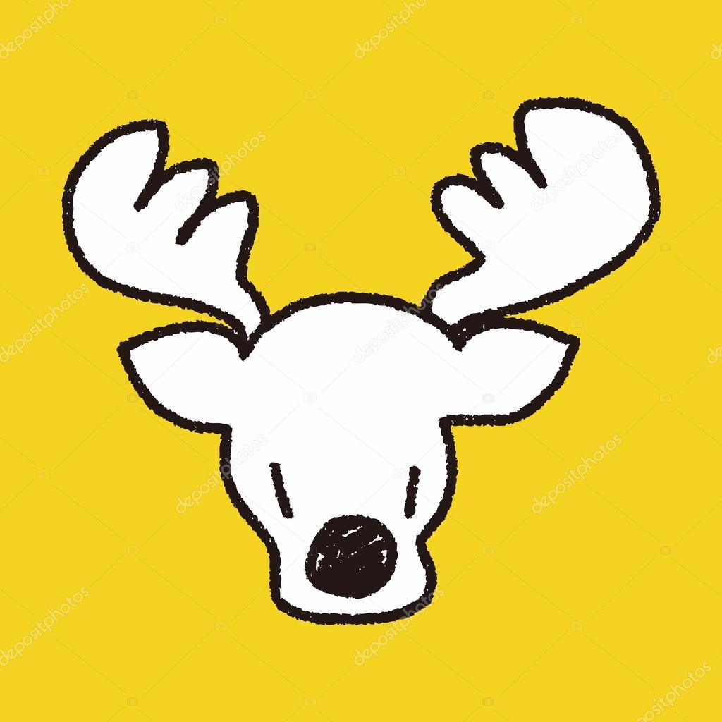 Drawn reindeer doodle Doodle Stock — Reindeer doodle
