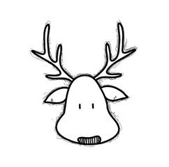 Drawn reindeer doodle Of drawn reindeer illustration Doodle