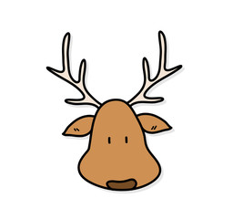Drawn reindeer doodle Reindeer vector Search a a