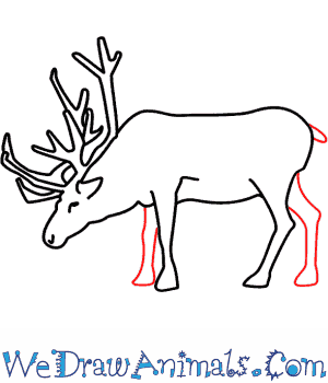 Drawn reindeer easy A Print How Tutorial Draw