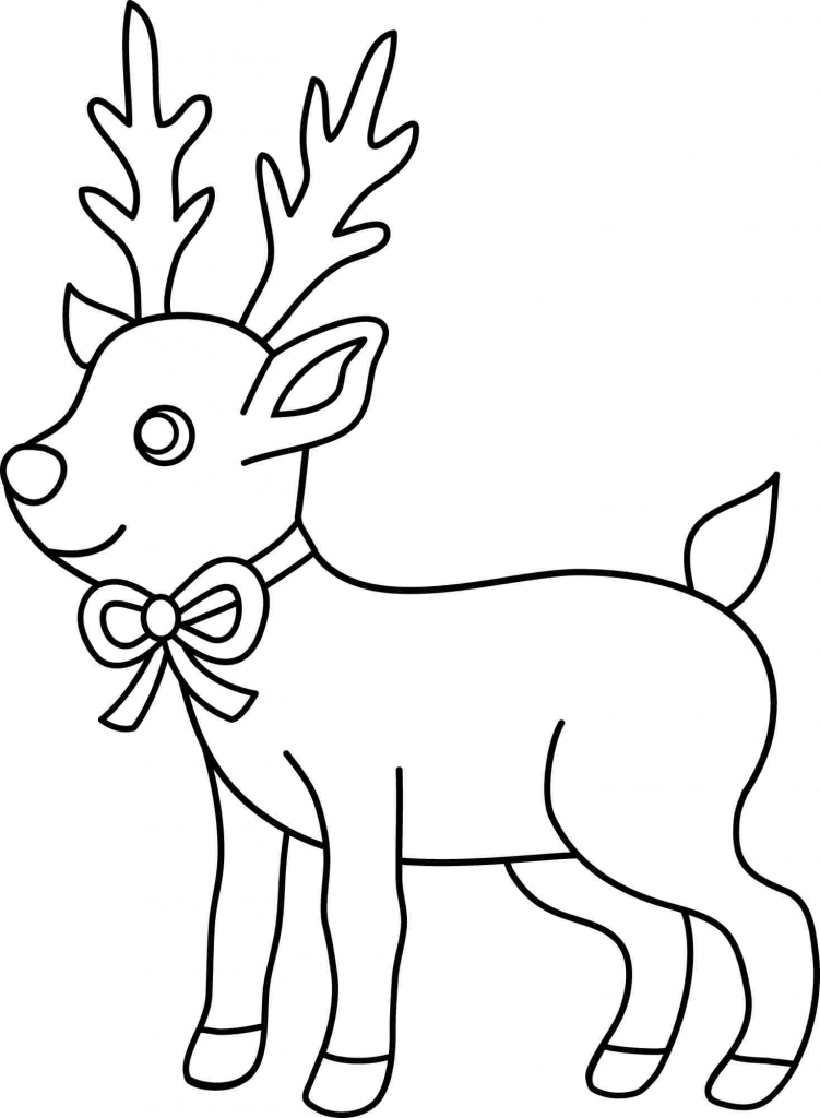 Drawn reindeer easy draw Pencil Easy Drawings  Christmas