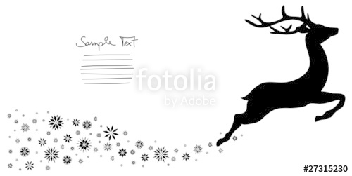 Drawn reindeer flying Reindeer reindeer Drawing Flying photo#9
