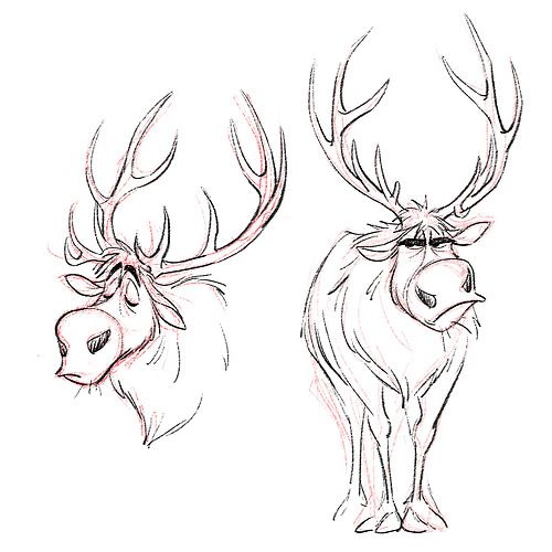Drawn reindeer frozen drawing On on easy/hard images easy/hard