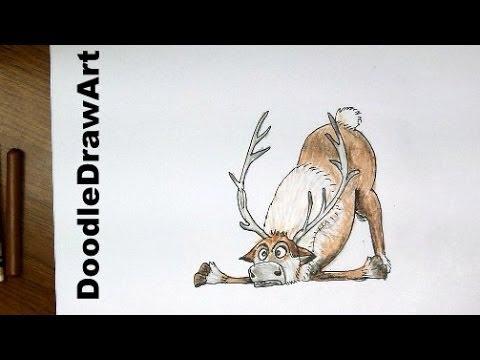 Drawn reindeer frozen drawing From Drawing: Fan Fan