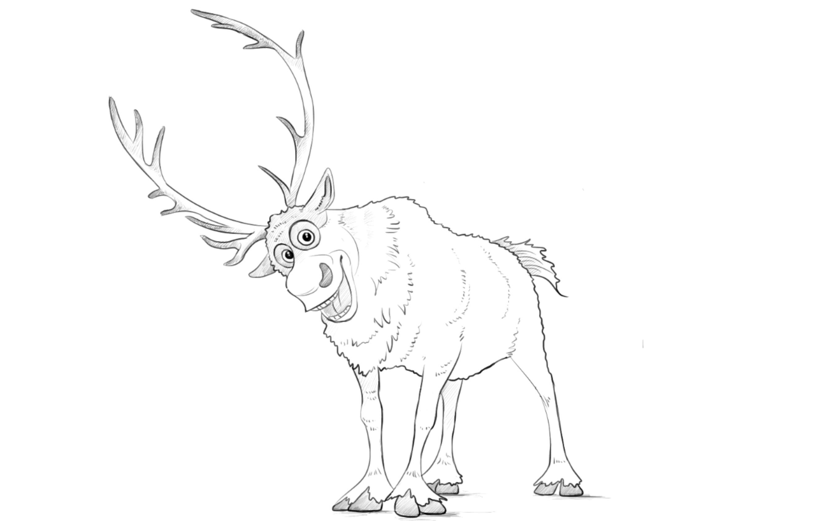 Drawn reindeer frozen drawing (deer) from Sven draw Frozen