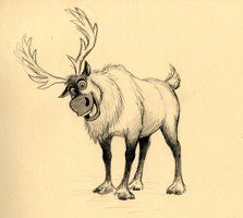 Drawn reindeer frozen drawing Step09 the to Sven sven