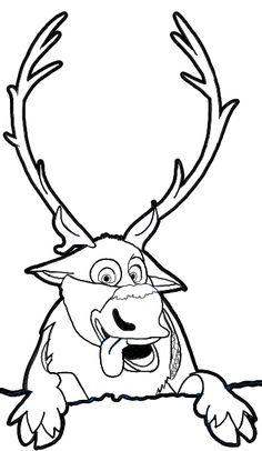 Drawn reindeer frozen drawing Reindeer How Step Frozen Disney