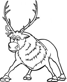 Drawn reindeer frozen drawing To by from Step Draw