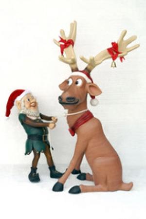 Drawn reindeer fun christmas Life Elf Funny Jolly by