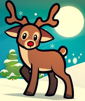 Drawn reindeer fun christmas  Kids How Step Reindeer