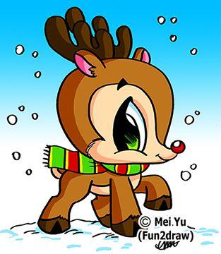 Drawn reindeer fun2draw Search Pinterest fun images draw