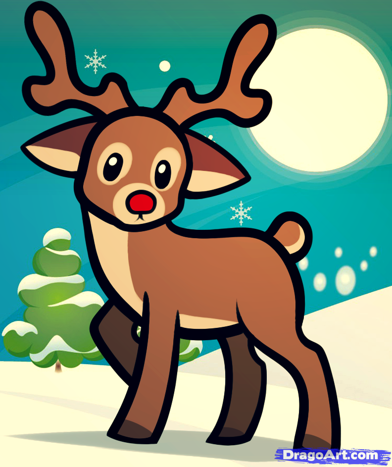 Drawn reindeer funny cartoon Pinterest reindeer Holder reindeer Google