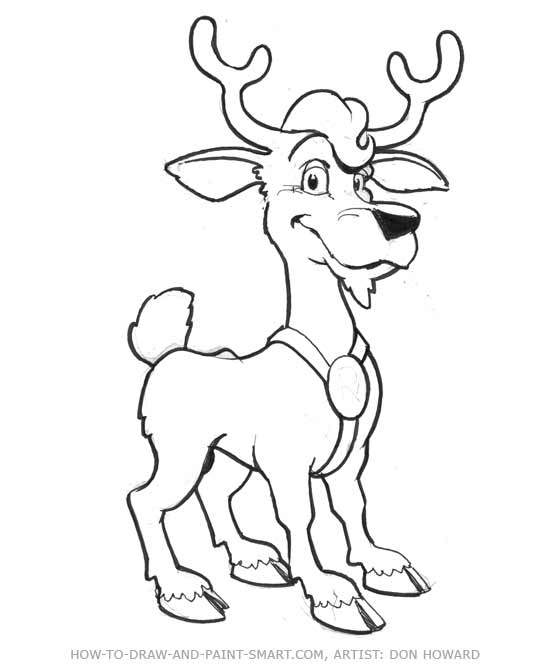 Drawn reindeer funny cartoon Cartoon Deer 6 Deer Cartoon