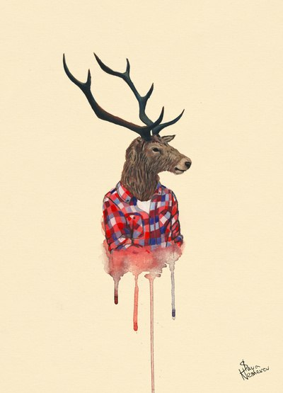 Drawn reindeer hipster  Pinterest Hipster wallpaper #deer