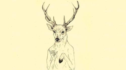 Drawn reindeer hipster We lovely hispter drawing Heart
