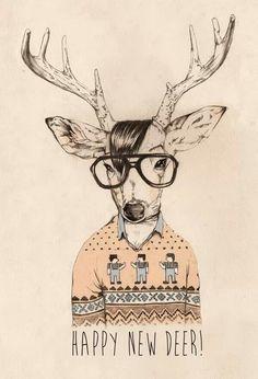 Drawn reindeer hipster Deer Pinterest Deer deer Hipster