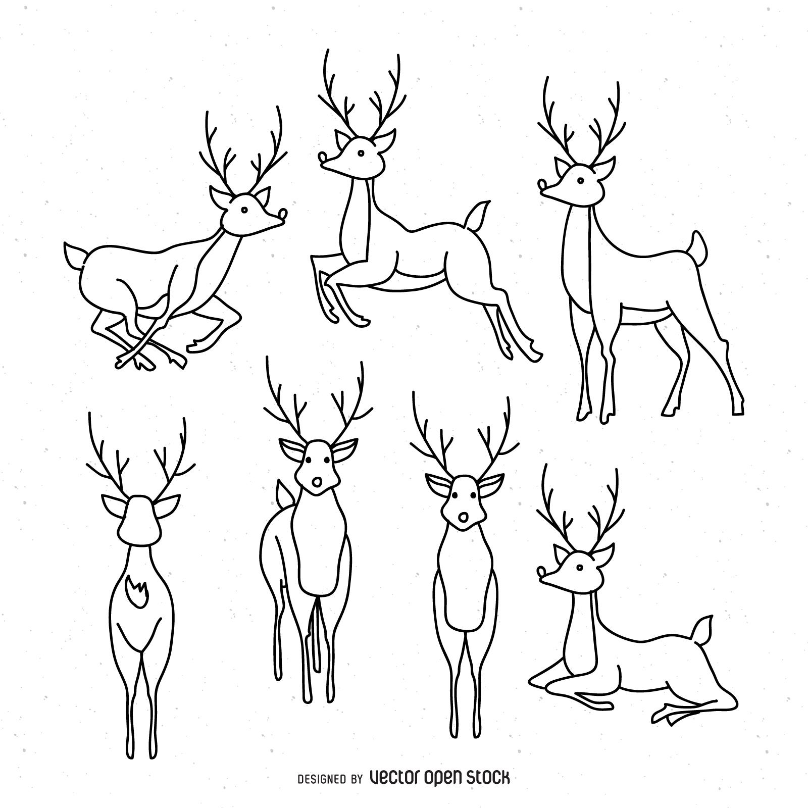 Drawn reindeer illustration Graphics Reindeer & to illustration