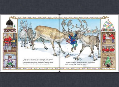 Drawn reindeer jan brett Malcolm Jan iBooks Reindeer &