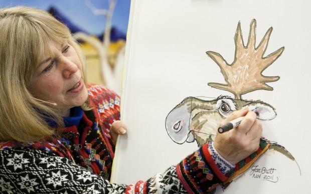 Drawn reindeer jan brett Brett draw Barnes how author