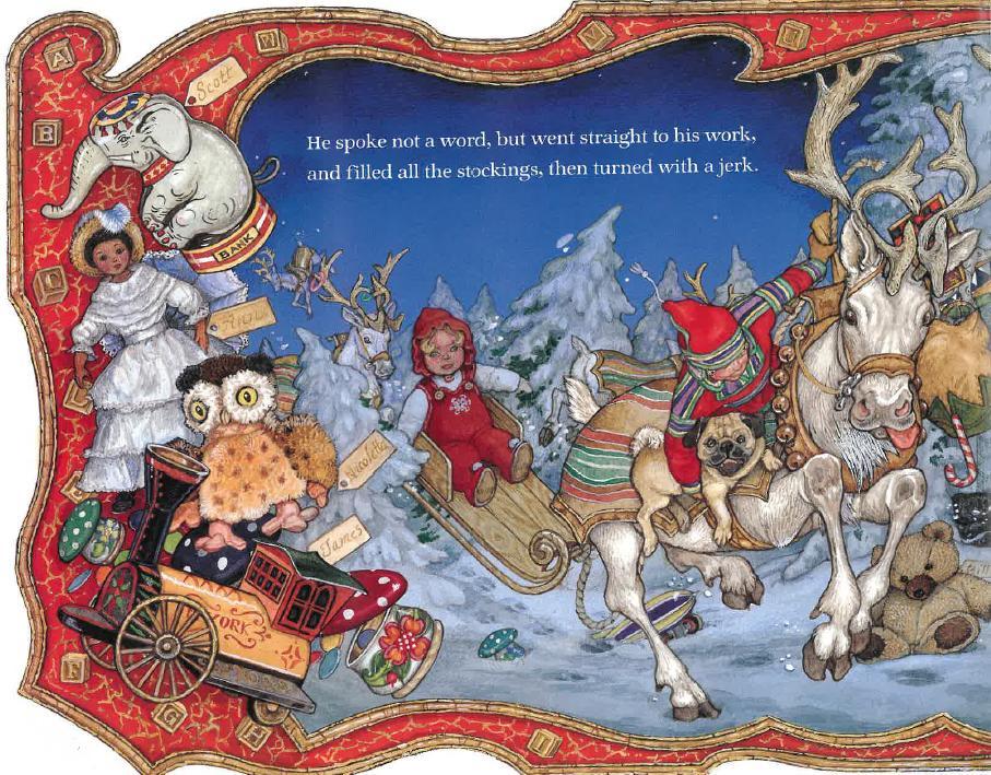 Drawn reindeer jan brett The Jan Bookshelf Possum's Jan