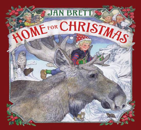 Drawn reindeer jan brett Christmas Home for Book