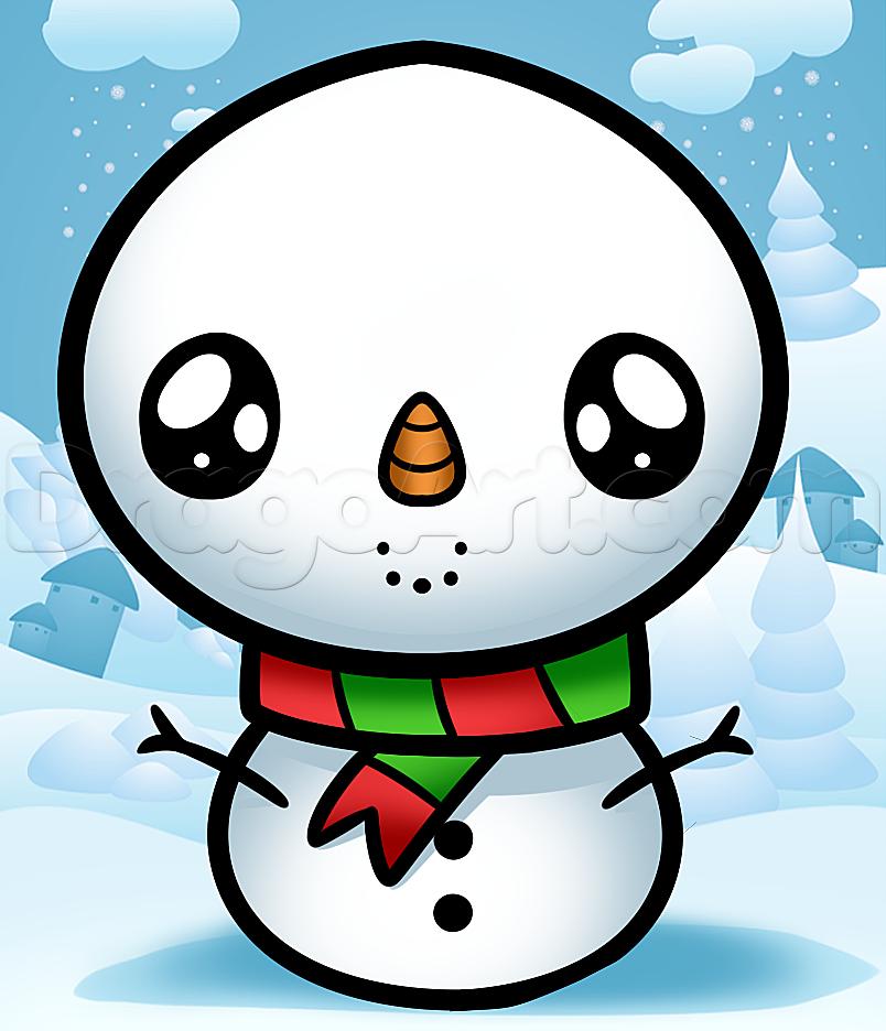 Drawn reindeer kawaii Snowman  Kawaii kawaii Stuff