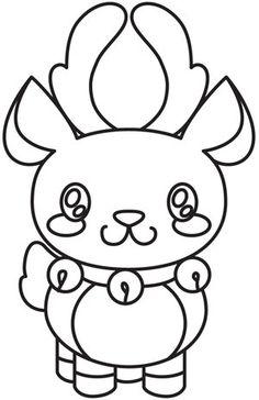 Drawn reindeer kawaii Winter  11 Series Cartoon