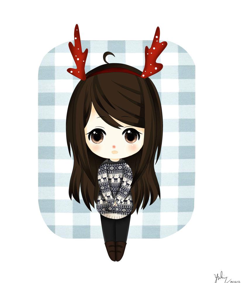 Drawn reindeer kawaii Reindeer Reindeer on DeviantArt by
