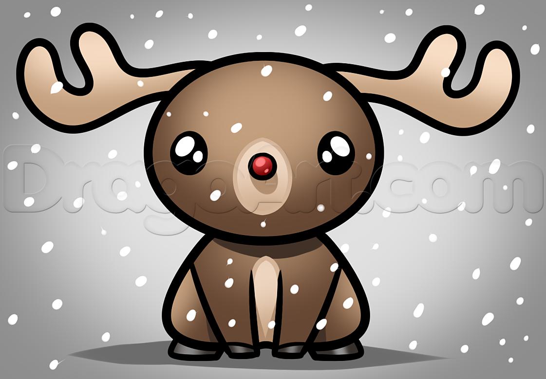 Drawn reindeer kawaii By Step rudolph how Kawaii