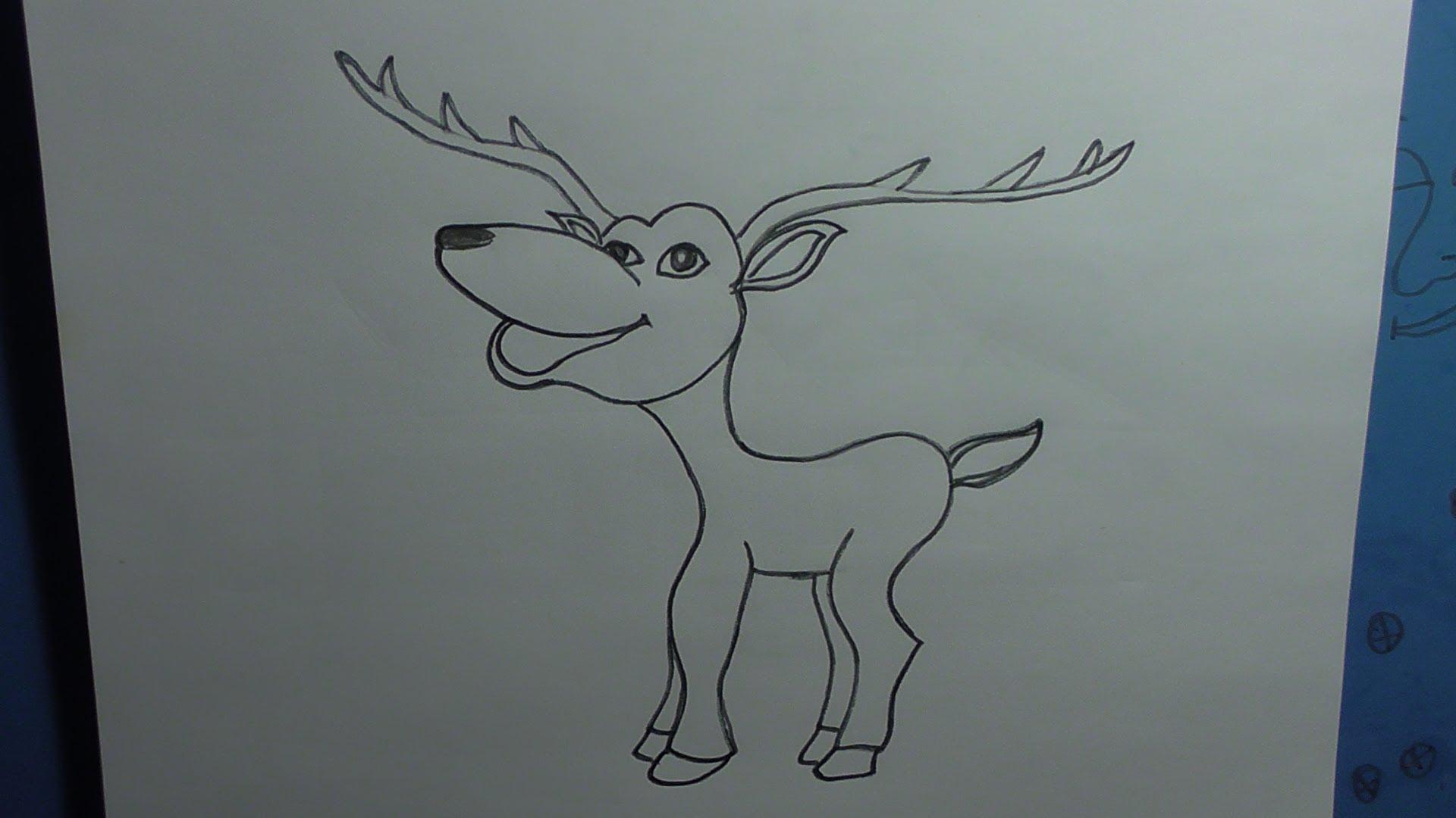 Drawn reindeer kawaii Reindeer a Reindeer How to