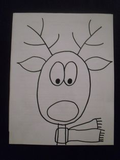 Drawn reindeer kid Reindeer Art: Teachers on Pinterest