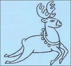 Drawn reindeer kid Nosed Red a Reindeer cartoon